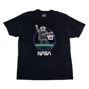 Goodie Two Sleeves Shirt Men's XL Black NASA EUC